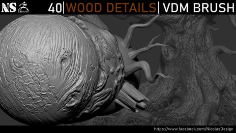 Zbrush - Wood Details VDM Brush