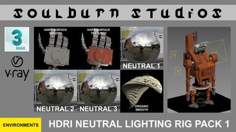 Soulburn Studios HDRI Neutral Lighting Rig Pack 1