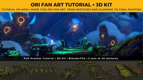 ORI Fan Art Full Tutorial + 3D Kit