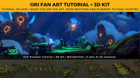 ORI Fan Art Full Tutorial + 3D Kit