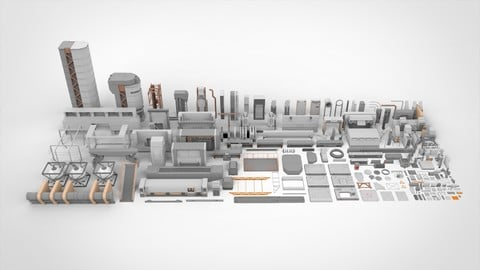 Sci-Fi architecture Elements collection 4