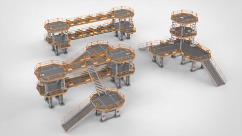 Sci Fi Modular Environment 9