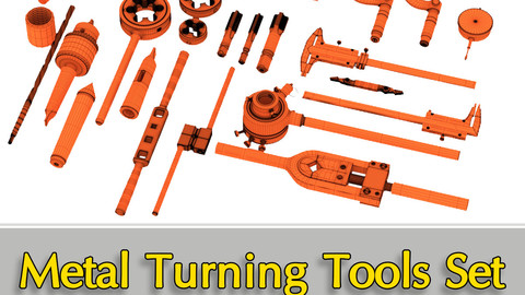 Metal Turning Tools Set includes 30