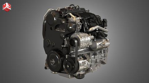 S60 T6 Drive - E Diesel - Engine 3D model