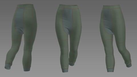 sport pants- pants- Marvelous designer & CLO3d projects- obj- FBX