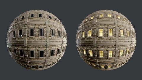 Building Facade Seamless PBR Texture 04