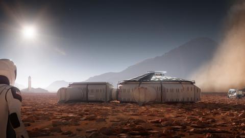 Martian colony base kitbash
