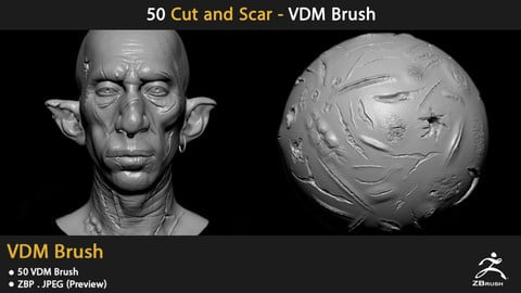 50 Cut and Scars - VDM Brush
