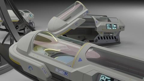 Sci Fi Cryogenic Pod