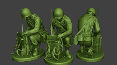 American engineer soldier ww2 Crouch3 A9