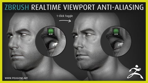 ZBrush Realtime Viewport Anti-Aliasing