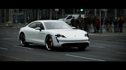 Porsche Taycan Turbo S electric car