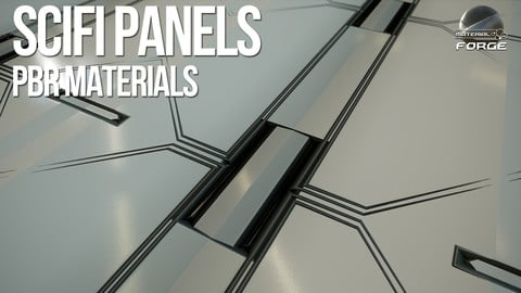 Scifi Panels PBR Materials