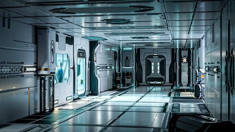 26 Sci-Fi 3D models - Interior Asset Pack