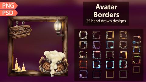 Stylized Avatar Borders