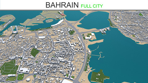Bahrain City 3D Model 70km