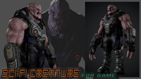 Sci-fi Creature for game