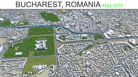 Bucharest City Romania 3D Model 40km
