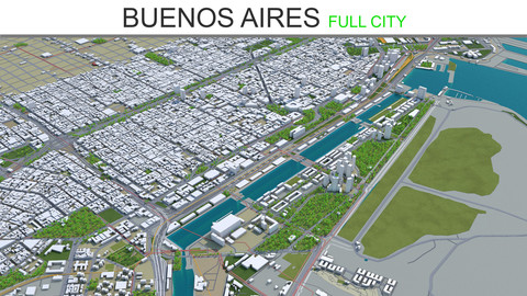 Buenos Aires City 3D Model  40km