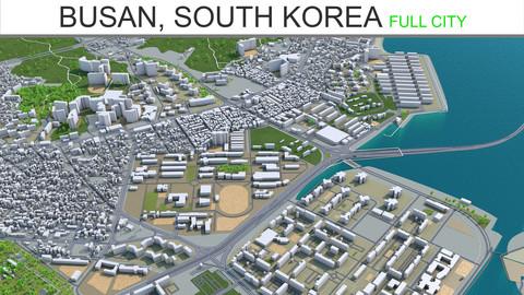 Busan City South Korea 3D Model  80km