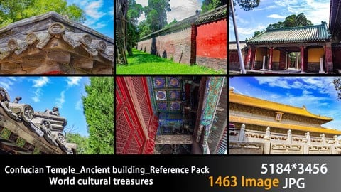 China Temple_Ancient building_Reference Pack