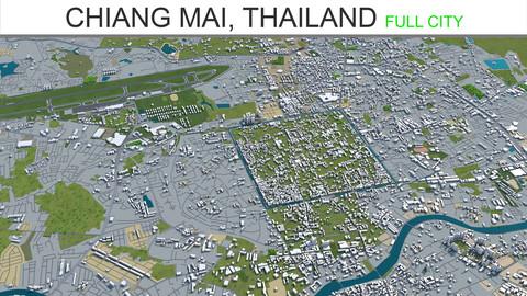 Chiang Mai City Thailand 3D Model 40Km