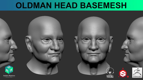 OldMan Head Base Mesh