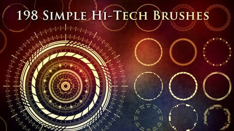 198 Simple Futuristic Circle Brushes