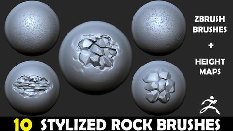 Zbrush - Stylized Rock Brush Vol. 1