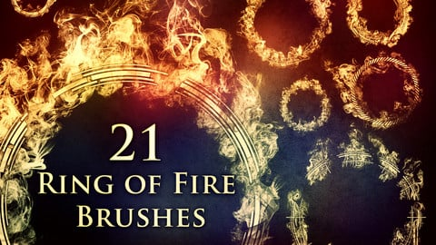 21 Ring of Fire Brushes