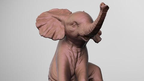 Baby Elephant For 3D Print