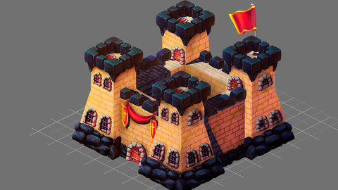 Isometric building for 2d game