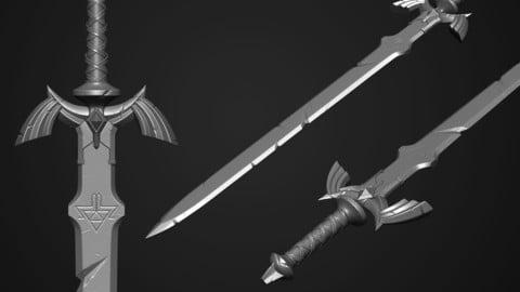 Master Sword - The Legend of Zelda : Breath of the Wild (Fanart)