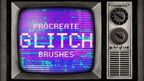 Glitch Procreate Brushes