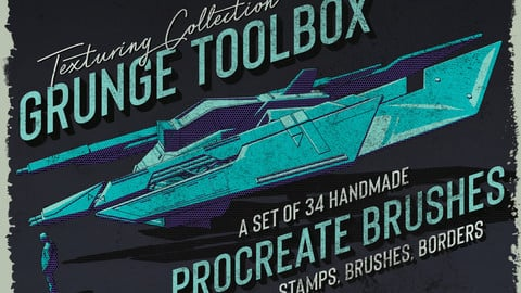 Grunge Toolbox Procreate Brushes