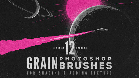 Grain volume 1 Photoshop Brushes