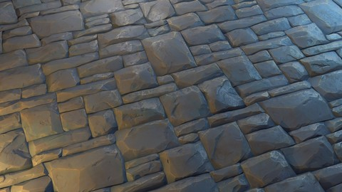 Stylized Stone Wall Floor Material