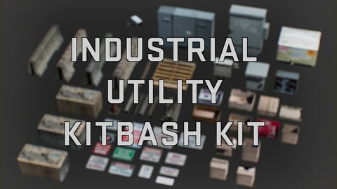 Industrial Utility Kitbash Kit