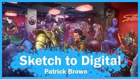 Characters in a Scene: Sketch to Digital | WORKSHOP