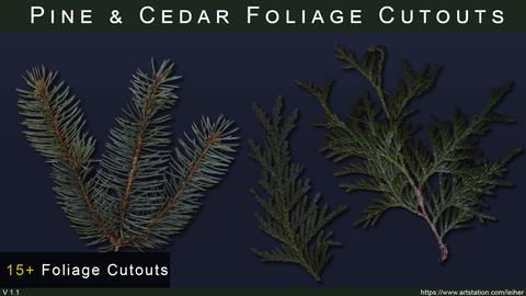 Free - Pine & Cedar Foliage Cutouts, up to 4k Resolution