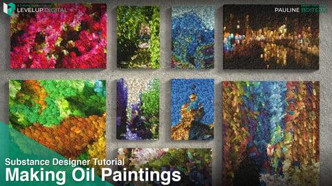 Making Oil Paintings in Substance Designer | Pauline Boiteux