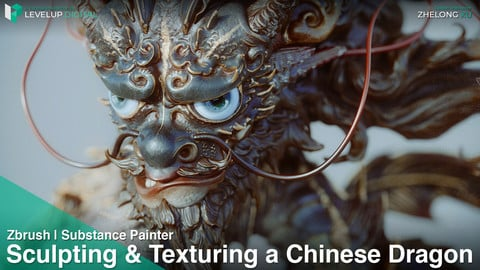 Sculpting & Texturing a Chinese Dragon (Subtitled) | Zhelong Xu