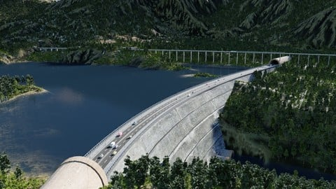 The dam in Blender
