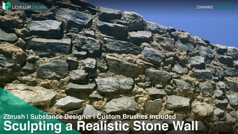 Sculpting a Realistic Stone Wall | ZBrush | Substance Designer | ZBrushes Pack Included | Dannie Carlone