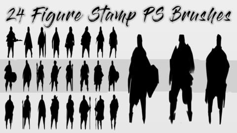 Figure Silhouette Stamp brushes