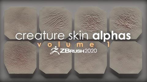 Creature Skin Alphas vol. 1 + Render Scene