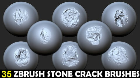 Zbrush - Stone Cracks Vol. 4