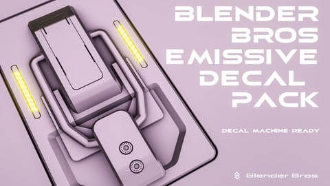 BlenderBros Emissive Decal Pack
