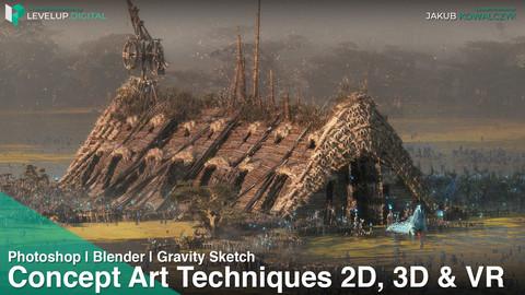 Concept Art Techniques using 2d, 3d and VR | Jakub Kowalczyk