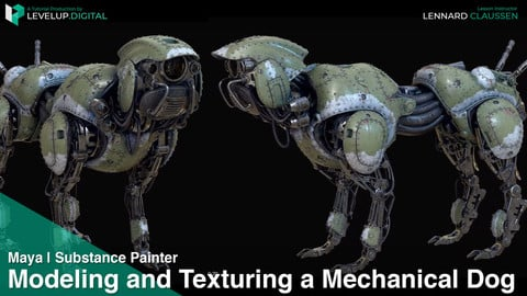 Modeling and Texturing a Mechanical Dog | Lennard Claussen